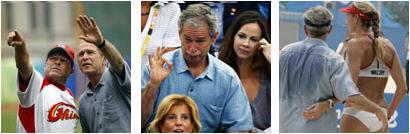 Bush goofing off at Olympics