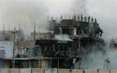 Sadr City building hit by Hellfire missile
