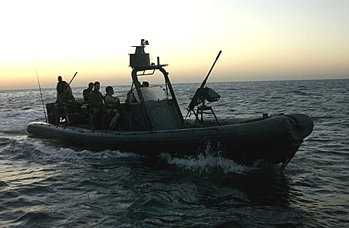 Navy intercept boat