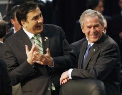 Saakashvili hearts Bush